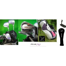 AGXGOLF LADIES RIGHT HAND PEAK PRO SERIES GOLF CLUB SET with BAG: PETITE, REGULAR OR TALL LENGTH