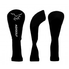 AGXGOLF Golf Club Headcovers: Long Neck Set of 3 Black for Driver+3+5 Woods