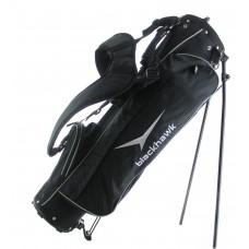 AGXGOLF BLACK HAWK STAND BAG wDUAL STRAP HARNESS & RAIN COVER