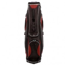MENS INTECH TITAN SENIOR'S CART BAG: BLACK, RED SILVER