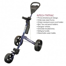 TRITECH 3 WHEEL GOLF PUSH GOLF CART WITH SCORECARD HOLDER AND REMOVABLE WATER BOTTLE