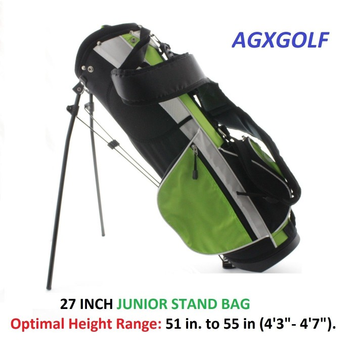 Agxgolf Junior Stand Golf Bags 27 28 Or 30 Inch Select The Size That Fits Your Junoir Golfer