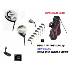 AGXGOLF MENS BLACKHAWK EDITION GOLF CLUBS w460cc DRIVER + 5 WOOD + 3-9 IRONS + PW + PUTTER + BAG OPTION