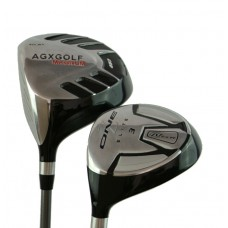 AGXGOLF LADIES LEFT HAND MAGNUM NXT 2 PIECE SET: DRIVER & 3 WOOD w/LADIES FLEX GRAPHITE SHAFTS & HEAD COVERS