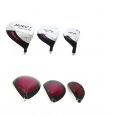 LADIES MAGNUM XLT 3 PIECE WOODS SET: DRIVER, 3 WOOD & 3 HYBRID IRON. RIGHT HAND, HEADS ONLY!!