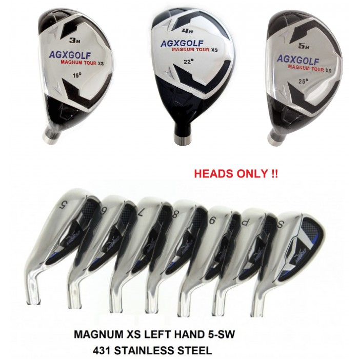 Agxgolf Magnum Xs Iron Heads Sets Left Hand Select The Combination Best For You Hybrids 3 4 Or 5 Irons 6 7 8 9 Pw Sw Only