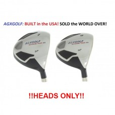 AGXGOLF MAGNUM #7 & #9 FAIRWAY UTILITY WOODS: (21 & 24 DEGREE) HEADS ONLY!!