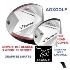 "ORLIMAR ""VT EDITION: MEN'S RIGHT OR LEFT HAND 460cc DRIVER: with 3 WOOD; GRAPHITE SHAFTS ON BOTH CLUBS"