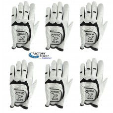 "SIX PACK: TALON CABRETTA LEATHER Golf Gloves, Left Hand Glove for Right Handed Golfers: Made with Imported ""Stay Soft Leather"" TAYLOR FIT by AGXGOLF"