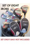 ORLIMAR/AFFINITY HT EDITION IRONS SET: w/ 3 & 4 HYBRIDS: MEN'S LEFT HAND: CADET, REGULAR or TALL