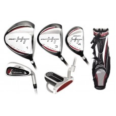 MENS LEFT HAND HT EDITION GOLF CLUB SET w460 DRIVER w/#3&4 HYBRIDS+ 5-PW+BAG+PUTTER