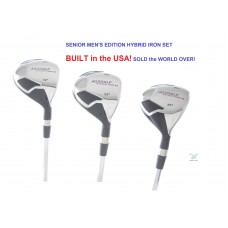 ANY COMBINATION AGXGOLF MEN'S SENIOR FLEX #3, 4, 5 & 6 HYBRID IRON SET GRAPHITE RIGHT HAND: CHOOSE ANY LENGTH