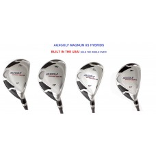 AGXGOLF MEN'S MAGNUM XS SERIES #3, 4, 5 & 6 HYBRID IRONS: CHOOSE YOUR FLEX, YOUR CLUB  AND CLUB LENGTH