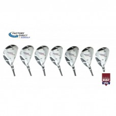 AGXGOLF Men's Magnum XS Series #3, 4, 5, 6, 7, 8 & 9 Hybrid Irons Set, Graphite w/Matching Head Covers; USA Built