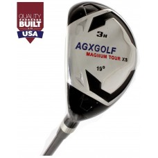 AGXGOLF MAGNUM LADIES LEFT HAND #3 HYBRID IRON W/LADY FLEX STEEL SHAFT