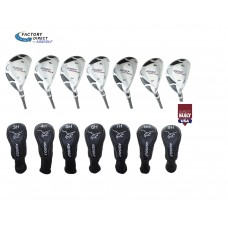 AGXGOLF LADIES MAGNUM XS SERIES #3, 4, 5, 6, 7, 8, 9 HYBRID IRONS SET: PETITE, REGULAR OR TALL LENGTHS, INCLUDES HEAD COVERS: Built in the USA!