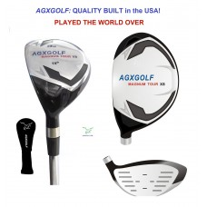 AGXGOLF LADIES MAGNUM XS SERIES #3 (19 DEGREE) HYBRID IRON w/GRAPHITE SHAFT & COVER: CHOOSE YOU LENGTH