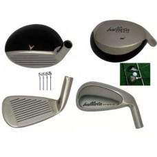 AGXGOLF BALLISTA  MENS LEFT HAND IRONS SET w#3 HYBRID + 5-PW, STEEL SHAFTS, ALL SIZES, BUILT IN USA!