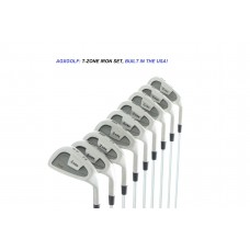 AGXGOLF MEN'S TOUR EDITION ZONE IRONS SET 3-SW w/STEEL SHAFTS; BUILT IN U.S.A!