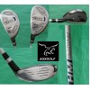 AGXGOLF MENS LEFT HAND TECH PLUS GRAPHITE SHAFT HYBRID IRONS SET 3 & 4: REGULAR OR CADET LENGTH