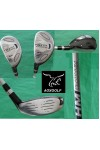 USED: AGXGOLF MENS LEFT HAND TECH PLUS GRAPHITE SHAFT HYBRID IRONS SET 3 & 4: REGULAR OR CADET LENGTH