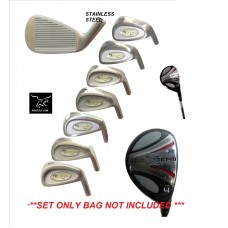 AGXGOLF SENIOR MENS TOUR EAGLE SERIES IRON SET: w/4 HYBRID+5,6,7,8,9 IRONS+PW&SW: ALL SIZES