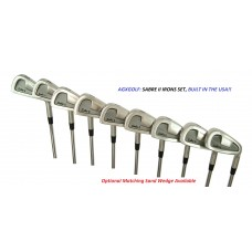 MENS RIGHT HAND SABRE TOUR IRON SET 3-PW: CADET REGULAR or TALL LENGTH OPTIONAL MATCHING SAND WEDGE