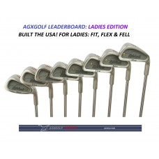 "AGXGOLF ""LEADERBOARD"" LADIES ALL GRAPHITE IRONS SET SET 3-PW: PETITE, REGULAR OR TALL LENGTHS: STAINLESS STEEL HEADS: BUILT IN THE USA!!"