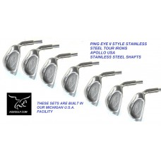 SENIOR MENS TF TOUR OFFSET IRON SET: 4-PW wOPTIONAL MATCHING 3 IRON /SW; CADET REGULAR OR TALL LENGTH