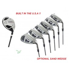 MEN'S RIGHT HAND AGXGOLF MAGNUM IRONS SET with #4 HYBRID IRON +5-9 IRONS + PW