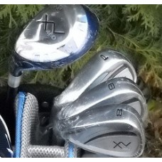 LADIES  XV  LEFT HAND PETITE or REGULAR LENGTH GRAPHITE EDITION IRONS SET w/HYBRID