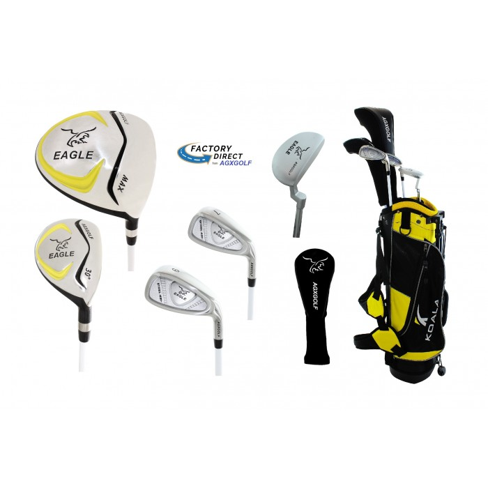 Junior Eagle Graphite Golf Clubs Set For Boys Girls W Stand Bag Putter And Two Head Covers 4 6yrs 7 9yrs 9 12yrs
