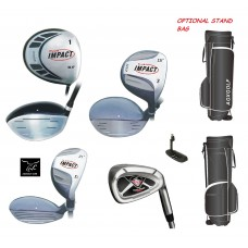 AGXGOLF NEW BOYS TOUR IMPACT GOLF SET w/450cc DRIVER-3 WOOD-HYBRID-IRONS-PUTTER OPTIONAL STAND BAG