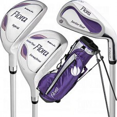 "KNIGHT GOLF GIRL'S ""FLORA"" (LAVENDER) GOLF CLUB SET STAND BAG & PUTTER GRAPHITE SHAFTS RIGHT HAND"