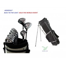 AGXGOLF BOYS MAGNUM GOLF CLUB SET wDRIVER+3 WD+HYBRID+5-PW IRONS+BAG+PUTTER: RIGHT HAND: BUILT in the USA by AGXGOLF