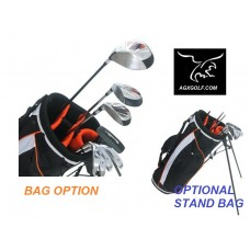 BOYS RIGHT OR LEFT TOURBILT GOLF CLUB SET w460cc DRIVER & FREE PUTTER: TEEN OR TWEEN LENGTH: OPTIONAL BAG