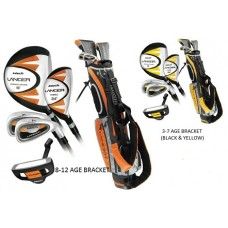 NEW KNIGHT JUNIOR LANCER GOLF CLUB SET w/STAND BAG & PUTTER: GRAPHITE SHAFTS