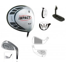 AGXGOLF IMPACT SERIES BOY'S GRAPHITE EDITION STARTER SET; 450cc ROUND HEAD FORGED DRIVER