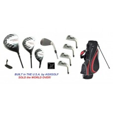 MEN'S MAGNUM SERIES EXECUTIVE GOLF CLUB SET w/STAND BAG: RIGHT HAND: CADET, REGULAR, &TALL SIZES