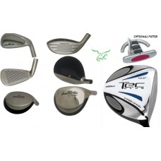SENIOR MEN'S LEFT HAND BALLISTA FULL GOLF CLUB SET wHYBRID & IRONS ALL SIZES