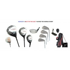 AGXGOLF MENS TOUR EXECUTIVE GOLF CLUB SET wSTAND BAG AND FREE PUTTER BONUS UTILITY WOOD BUILT IN U.S