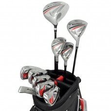 MENS LEFT HAND FIRELINE EDITION GOLF CLUB SET w460 DRIVER w/#4 & 5 HYBRIDS+ 6-PW+PUTTER: OPTIONAL BAG