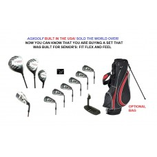 AGXGOLF MEN'S MAGNUM SERIES COMPLETE GOLF CLUB SET: DR+3W+HYBRID+PUTTER+5-9 IRONS + PITCHING WEDGE + PUTTER: ALL SIZES wOPTIONAL BAG