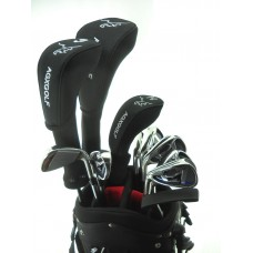SENIOR MENS LEFT HAND MAGNUM XS EDITION GOLF CLUB SET w460 DRIVER + #3 HYBRID+ 5-PW+PUTTER: OPTION TO INCLUDE STAND BAG, 5 WOOD, 3 HYBRID & SAND WEDGE