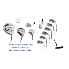 AGXGOLF ALL GRAPHITE, SENIOR EDITION, MAGNUM-CAMPBELL FULL GOLF CLUB SET. OPTIONAL STAND BAG + FREE PUTTER: DRIVER+5 WD+HY+5-9 IRONS+PW+PUTTER
