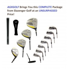 SLAZENGER MEN'S TOUR SELECT EDITION GOLF CLUB SET wTITANIUM DRIVER + 3 & 5 WOOD + 5-9 IRONS + PW & SW + PUTTER: OPTIONAL STAND BAG