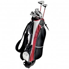 MENS LEFT HAND TEC PLUS GOLF CLUB SET 460 DRIVER+3 WOOD+HYBRID+7-PW IRONS+STAND BAG+PUTTER