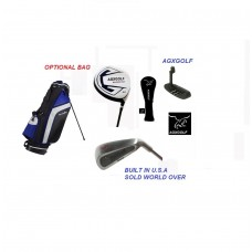 "AGXGOLF LEADERBOARD SENIOR FLEX EDITION"": FULL GOLF CLUB SET: FREE PUTTER! MEN'S RIGHT HAND: GRAPHITE IRONS OPTION"