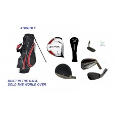 AGXGOLF MAGNUM  GOLF CLUB SET wOVERSIZE DRIVER + GRAPHITE WOODS + 5-PW IRONS: ALL SIZES