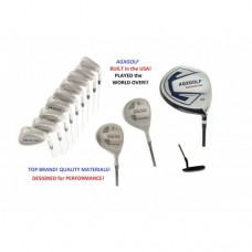 AGXGOLF MDD TOUR MEN'S STIFF FLEX GOLF SET w460 DRIVER +3 & 7 WOODS+3-9 IRONS+PW+SW+PUTTER